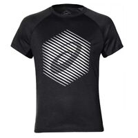 Asics True Performance Graphic Mens Running Fitness Training T-Shirt Tee Black