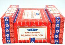 India Satya Saibaba Nag Champa Dragon's Blood Incense Sticks Agarbatti 12 Pk 15g