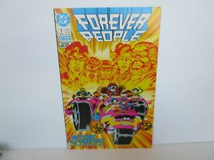 FOREVER PEOPLE  # 1  new DC series  NM plus Glossy & Tight  mini series 1988