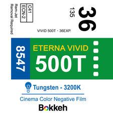 Fuji Eterna vivid ISO 500T 8547 Color Negative Cinema Film x5 (35mm Pack)