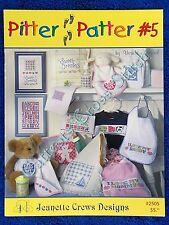 Cross Stitch Pattern Pitter Patter #5 Sampler Baby I Love Dad Mum Alphabet Birth