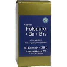 FOLSÄURE+B6+B12 ohne Lactose Kapseln 90 St PZN 5388888