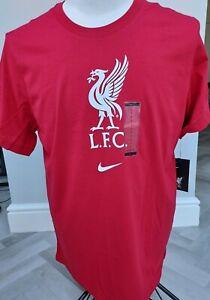 GENUINE  MEN'S  NIKE  Liverpool FC  /T-Shirt Large   / BNWT/ SUPERB / red