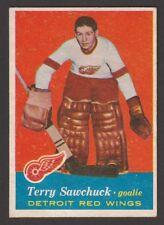 1957-58  TOPPS  # 35  TERRY SAWCHUCK   INV J439