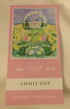 WHITE HOUSE TICKET  EASTER EGG ROLL  2017 Signed Melania & Donald TRUMP Pink