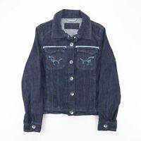 Vintage Blue 90s Cotton Blend Casual Denim Jacket Womens S