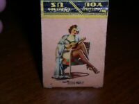 """Gilcrest Produce,Colorado-Pin-Up """"Sitting Pretty"""" Matchbook Cover~Potatoes,etc"""
