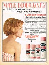 PUBLICITE ADVERTISING  1965   VICHY   déodorant