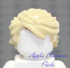 NEW Lego Minifig TAN HAIR Ninja Lloyd Minifigure Long Light Blonde Boy Head Gear