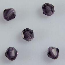 100pcs Swaro/vski 4mm Bicone Crystal beads A Violet