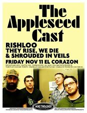 THE APPLESEED CAST 2011 Gig POSTER Seattle Washington Concert