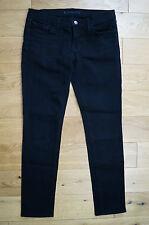 J BRAND Womens Low Rise Skinny Leg #941 JETT Black Denim Crease Jeans Sz29