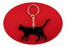 Black Cat Bag Dangler, Key Ring and Lucky Charm Ready to Curl Up on Your Lap