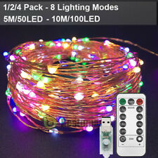 USB Twinkle LED String Fairy Lights 5/10M 50/100LEDs Copper Wire Party w/ Remote