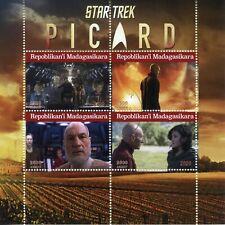 Madagascar Star Trek Stamps 2020 CTO Jean-Luc Picard TV Series 4v M/S