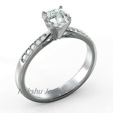 Engagement Ring 925 Sterling Silver 1Ct Round White Moissanite Antique Wedding