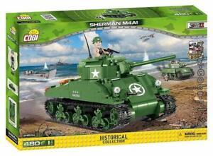 COBI Small Army Sherman M4A1 Tank Building Kit Model Building Block Set # 2464A