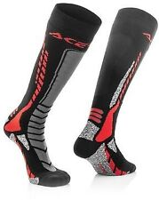 New Acerbis 8-10 UK Adult Knee Length Thick Socks Motocross Enduro Trials CR CRF