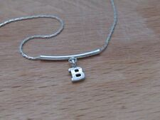 Initial necklace, Sterling silver initial necklace, silver initial necklace,