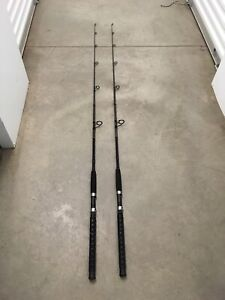 2 Berkley Fusion 7' Spinning Rods MH Action Saltwater Catfish 10-25lb (Big Game)