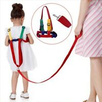 1.2m+0.6m Reins & Walking Harness Adjustable Wristlink Toddler Child Safe BJvt
