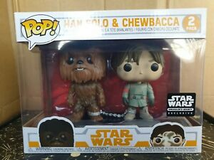 Funko Pop Vinyl - Star Wars - Han Solo & Chewbacca 2 pack- New-Smuggler's Bounty