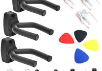 Dtown Guitar Wall Mount,Ukulele Guitar Hanger,Set of 4 Pack 4 Pack 5 picks