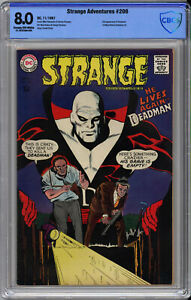 STRANGE ADVENTURES #206 CBCS VF 8.0 - 1st NEAL ADAMS DEADMAN ART - 1967