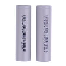 New 2pcs 2500mAh 3.7V Rechargeable 18650 Li-ion Vape Battery Unprotected Flat