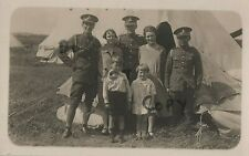 soldier WW1 Veteran Family group ? Royal Artillery at annual camp