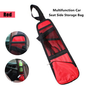 1PCS Car Seat Side Hanging Bag Net Organizer Cup Drink Phone Holder Mesh Part