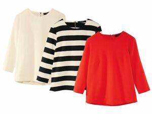 Damen Blusenshirt Bluse Shirt Fashionbluse 3/4 Arm Oberteil NEU (R0)