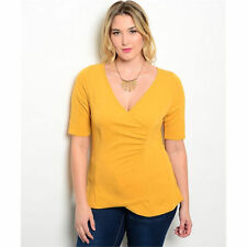 Career Short Sleeve Hand-wash Only Plus Size Tops & Blouses for Women