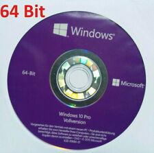 Windows 10 Professional 64bit DVD versión completa alemana holograma