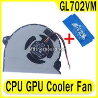 New CPU GPU Cooler Fan Heatsink For ASUS ROG GL702VMK GL702VML GL702VM Fan FK9M