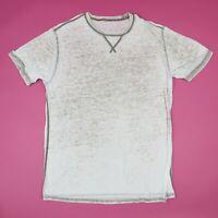Paper Thin Burnout Plain Blank T-Shirt XL Grunge Skate Beach Retro