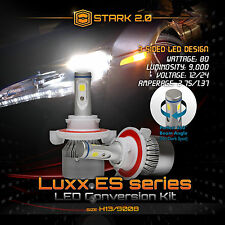 Stark LED 80W 9000LM 6000K 6K White 3-Sided Kit Dual Hi / Lo Bulbs - H13 9008