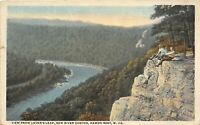 Hawks Nest West Virginia 1920s Postcard View From Lover's Leap New River Canyon