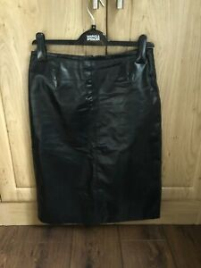 River Island Leather Skirt Size 10