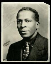 Vintage COMPOSER ANDY RAZAF Studio Photo 1920s AUTOGRAPHED RARE Jazz Blues