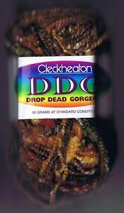 CLECKHEATON DROP DEAD GORGEOUS KNITTING YARN Col 4203 Lot #716306 - Autumn tones