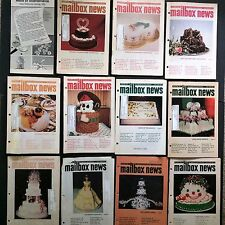 Lot 11 Mailbox News Cake Decorating Magazines Catalog Vtg 1990s Holiday Wedding