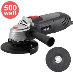 Smerigliatrice Angolare 500W Flex Frullino 115mm + Disco e Manico Regolabile
