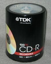TDK CD Rohlinge 100 Stück CD-R Recordable 52x / 80 Min / 700 MB Spindel