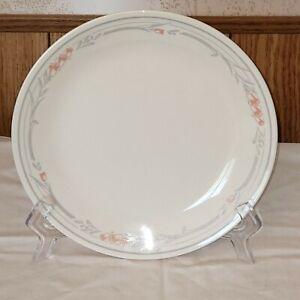 "5-Pc Corelle ROSE Dinner Plates 10 1/4"" Beige w Gray Leaves & Band Rose Flowers"