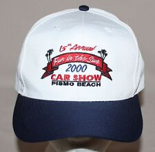 2000 Pismo Beach Car Show Baseball Hat Cap Fun in the Sun 15th Annual Snapback