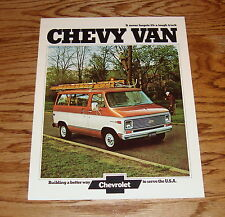 Original 1974 Chevrolet Van Sales Brochure 74 Chevy