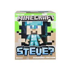 "Minecraft Steve Diamond Edition  6"" Vinyl Figure New In Box w/ Sword"