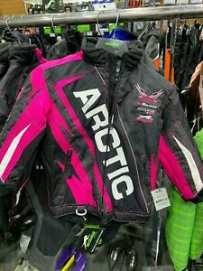 Arctic Cat Women's Team Arctic Youth Girls Jacket - Pink Size