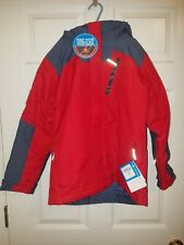 New Columbia Whirlibird Ii Interchange 3-in-1 Jacket Youth Red Omni-Shield M